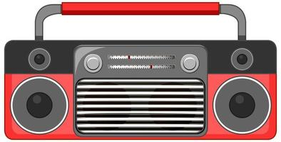 rode radio muziekspeler geïsoleerd op een witte achtergrond vector