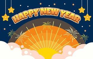nieuwe jaar nacht achtergrond