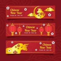 chinees nieuwjaar van de gouden os banner