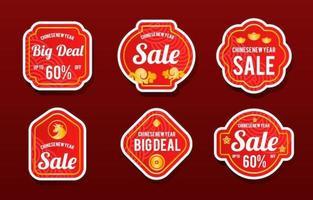 chinees nieuwjaar promotie stickercollectie