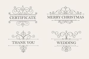 frame en ontwerp ornament set vector