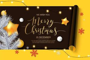 zwarte kerst banner vector