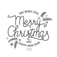 vrolijk kerstfeest briefkaart vector
