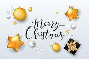 Kerst achtergrond met versieringen vector