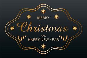 gouden kerst achtergrond vector