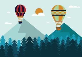 Vector illustratie van hete luchtballon