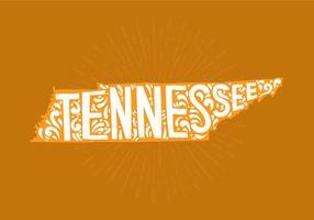 Staat van Tennessee Lettering vector