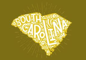 South Carolina State Lettering vector