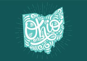 Ohio State Lettering vector