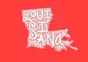 Louisiana State Lettering vector