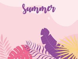 zomertijd en tropische vakantiebanner vector