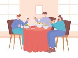 restaurant over coronaviruspreventie met sociaal diner