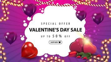 Valentijnsuitverkoop, tot 50 korting op banner