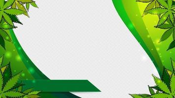 een sjabloon met een frame van cannabisbladeren