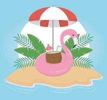 leuke zomervakantie en strandsamenstelling vector