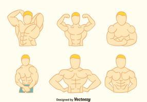 Handgetekende Body Building Vectors