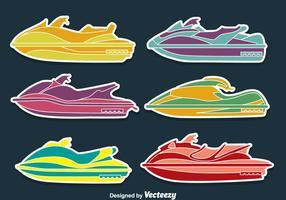 Water Jet Collectie Vectoren