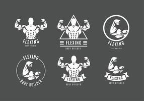 Flexing Logo Gratis Vector