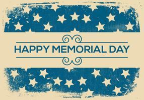 Grunge Retro Memorial Day Background vector