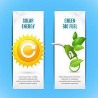 ecologie verticale banner set vector