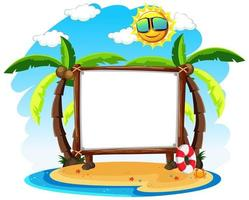 lege banner met zomerthema