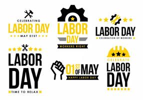 Labor Day Vector Element Design