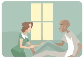 Fysiotherapeut Een Leg Massages Vector