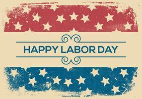 Happy Labor Day Grunge Achtergrond vector