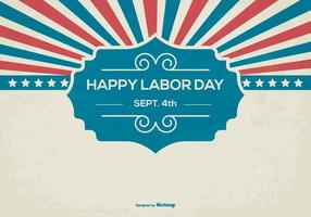 Retro Happy Labor Day Achtergrond vector