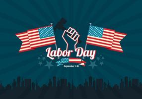Labor Day Vector Achtergrond