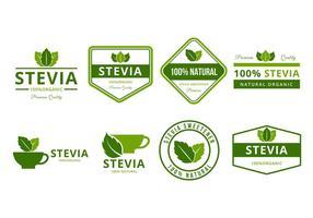 Gratis Stevia Logo en Badges Vector
