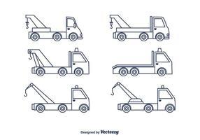 Sleepwagen Vrachtwagen Vector