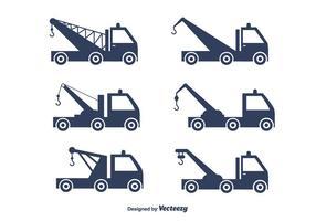 Sleepwagen Vrachtwagen Vector Set
