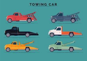 Zijaanzicht Aanhangwagen Auto Vector Collecties