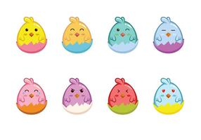 Easter Chick Icon Vector