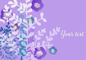 Paars Bloemen Behang vector