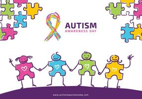 Autisme Awarness Doodle Gratis Vector