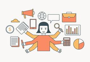 Multitasking Illustratie vector