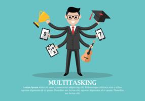 Multitasking Vector Illustratie
