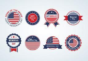 Memorial Day Badges Vector