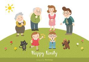 Gelukkige Familie Cartoon Vectorillustratie