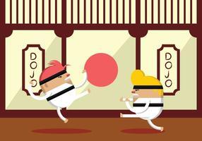 Karate Vechterpraktijk vector