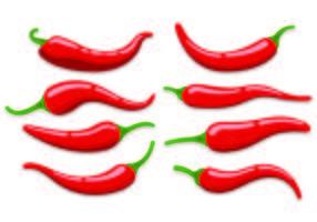 Set Van Chili Vectoren