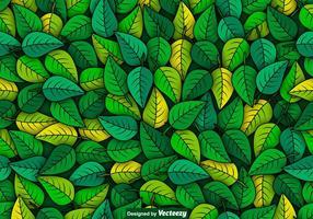Vector Groene Bladeren Naadloos Patroon