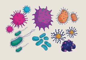 Bacteriën en Mould Vector