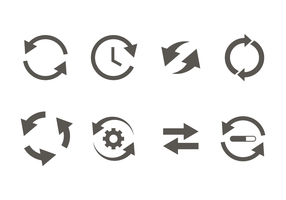Glyph update icoon vector