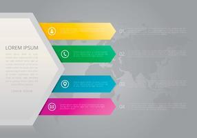 Heldere tel infographic templates vector