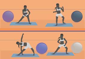 Vrouw Aerobic Illustratie vector