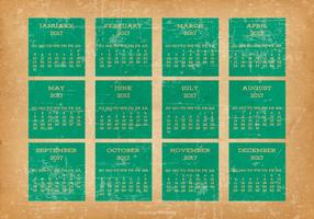 Oude Grunge Style 2017 Desktop Calendar