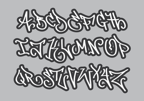Grafiti Alfabet vector